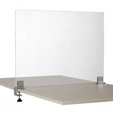 Séparateur de table en plexiglas avec pinces réglables pour restaurant ou bureau