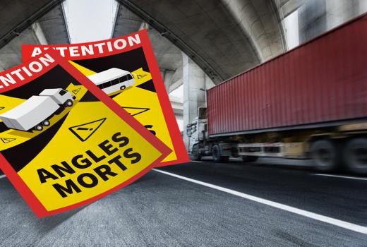 Angles morts : Autocollants obligatoires pour prévenir du danger
