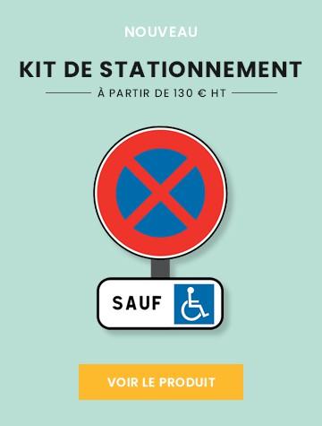 Bannière Kit de stationnement PMR