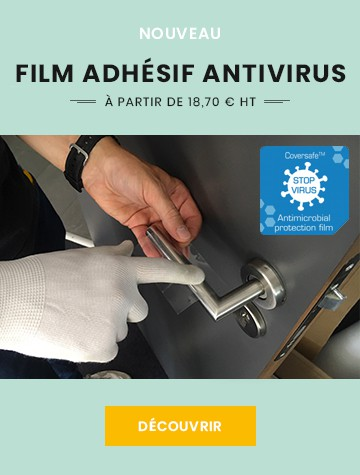Film antimicrobien transparent pour toutes surfaces - COVERSAFE™